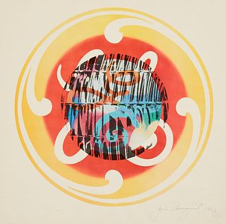 """James Rosenquist """"Circles of Confusion and Lite Bulb"""" Lithograph 1966"""