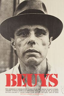 Joseph Beuys Exhibition Poster Western Man 1974