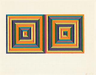 """Frank Stella """"Fortin de las Flores"""" Screenprint"""