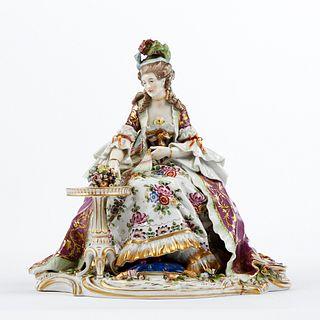 Royal Vienna Woman w/ Fan Porcelain Figure