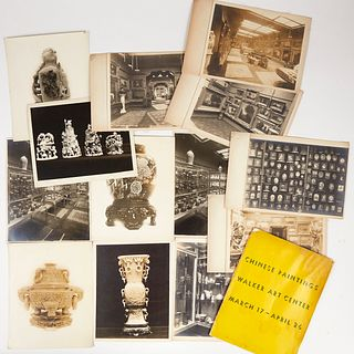 Grp: Early Photos of Walker Chinese Art Collection & 1942 Catalog