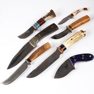 Grp: 7 Custom Knives - R.E. Molenaar & Rough Rider