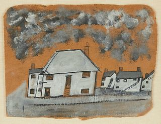 "Alfred Wallis ""The White House"" Painting on Board"