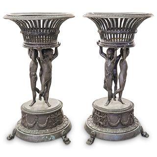 Att. Claude Michele Clodion Bronze Planters