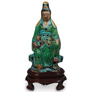 Ming Dynasty Shiwan Ware Guan Yin Sculpture