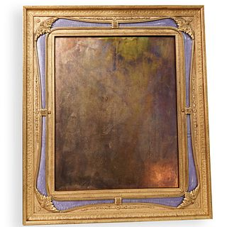 """1940s """"B. Altman and Co."""" Enamel and Bronze Frame"""
