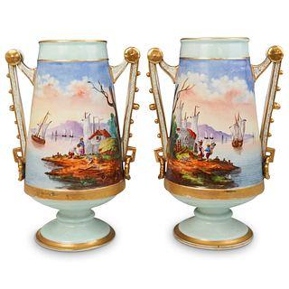Pair of Antique Austrian Vases