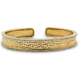 14K Gold & Diamond Ladies Cuff
