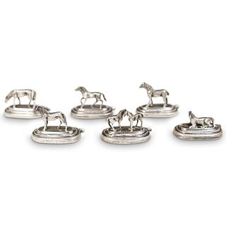Antique Spanish Sterling Silver Place Card Holders