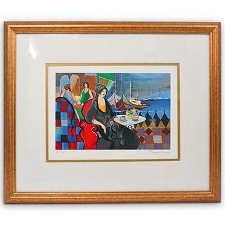"Itzchak Tarkay (Israeli, 1935-2012) "" View of the Harbour"" Serigraph"