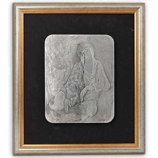 "Itzchak Tarkay (Israeli, 1935-2012) "" Eileen"" Aluminum Relief"
