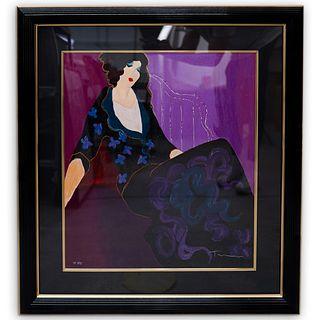 "Itzchak Tarkay (Israeli, 1935-2012) ""Chambre Violette"" Serigraph"
