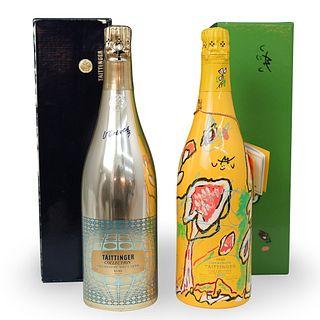 Taittinger Artists Series Champagne Bottles 1978 & 1992