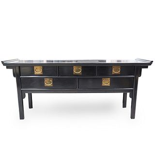 Chinese Black Lacquer Altar Table