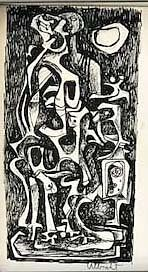Abstract Figures in Ink  John Ulbricht