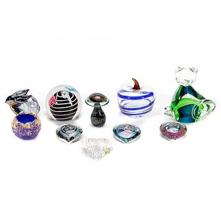 An Assembled Collection of Art Glass Paperweights