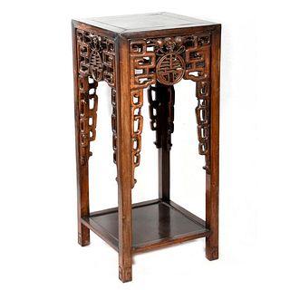 Chinese Hardwood Pedestal