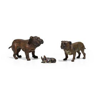 Austrian, Collection of three bulldogs