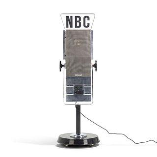 Maurizio Lamponi Leopardi, NBC microphone radio