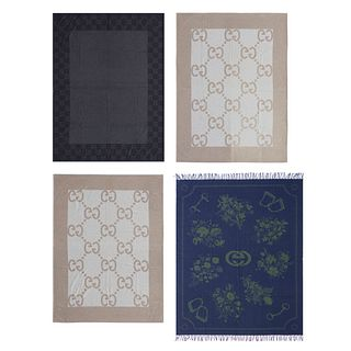Gucci, Collection of four blankets