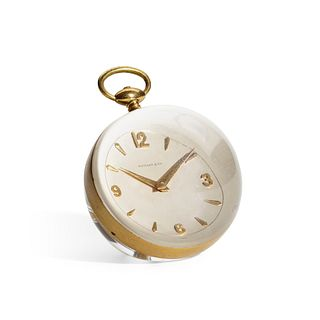 Tiffany & Co., Paperweight table clock