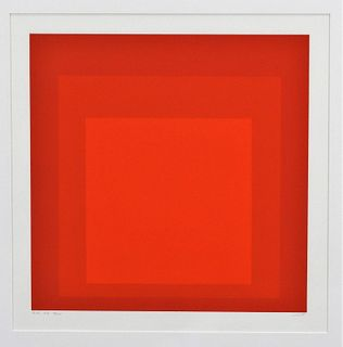 Josef Albers Ek Id Geometric Abstract Silkscreen