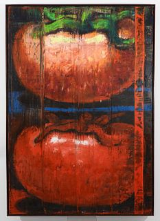 Aaron Fink Boston Expressionist Tomato Painting