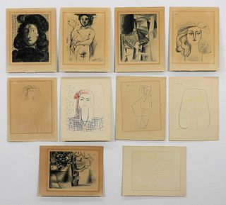10 Pablo Picasso Dessins Drawings Lithograph Group