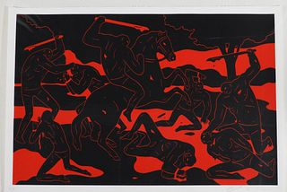 Cleon Peterson River Of Blood Screenprint