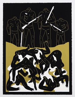 Cleon Peterson The Genocide Black Screenprint