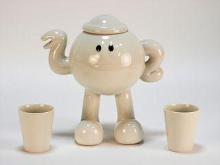 James Jarvis Teapot White Porcelain Sculpture