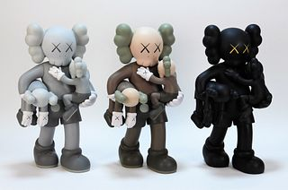 3 KAWS Clean Slate Companion Vinyl Sculpture Group