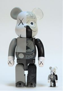 2PC KAWS x BE@RBRICK Dissected Companion 400% 100%