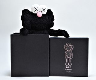 KAWS BFF Companion Black Polyester Plush Doll