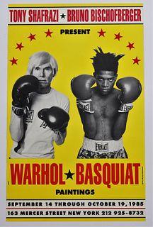 Andy Warhol Jean-Michel Basquiat Exhibition Poster