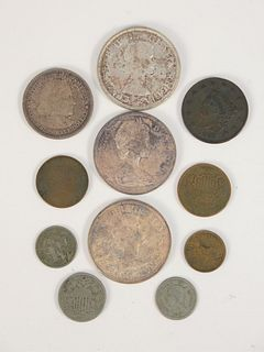 Mixed coin lot of US and Canadian coins.