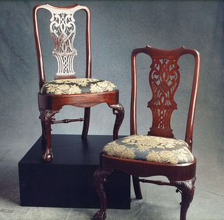 Pair Of George II Mahongay Side Chairs