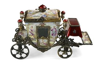 Viennese Enamel cinderella  Carriage
