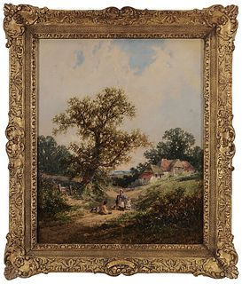 A Mid-19th Century Landscape Painting By James Meadows