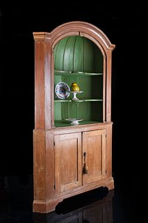 Georgian Period Architectural Open Corner Cupboard
