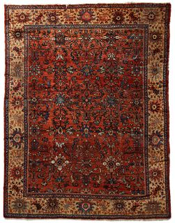 A VERY GOOD ANTIQUE ROOM SIZED HANDMADE PERSIAN CARPET
