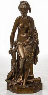 ALBERT ERNEST CARRIER (1824 - 1887) BRONZE SCULPTURE