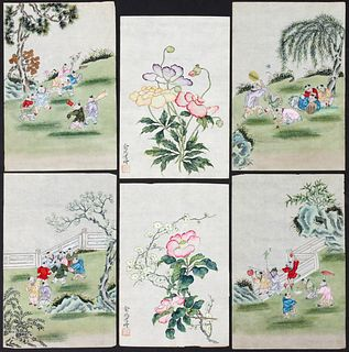 A COLLECTION OF SIXTY 20TH CENTURY CHINESE WATERCOLORS