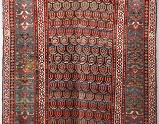 A GOOD 19TH C. KURDISH NW PERSIAN RUNNER WITH BOTEH