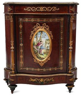A 19TH C. FRENCH BRONZE MOUNTED CABINET SIGNED DIEHL