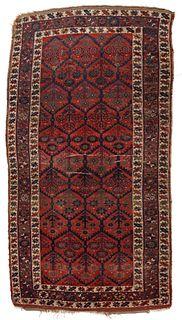 A GOOD ANTIQUE KURDISH NORTHWEST PERSIAN ORIENTAL RUG