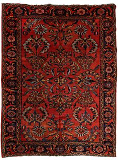 A FINE LUSTROUS EARLY 20TH CENTURY PERSIAN LILIHAN RUG
