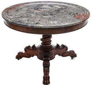 A FINE AND HANDSOME 19TH C. LOUIS PHILIPPE CENTER TABLE