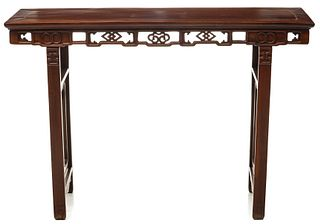 AN EARLY TO MID 20TH C. CHINESE HARDWOOD ALTAR TABLE