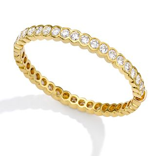 Mish Elizabeth Hinged Bangle Bracelet, 18k Gold & Diamond